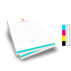 Notepad Printing 11'' x 17'',  25 Pages per Pad, 4/0 Single Sided