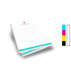 Notepad Printing 8.5'' x 11'',  25 Pages per Pad, 4/0 Single Sided