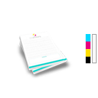 Notepad Printing 5.5'' x 8.5'',  25 Pages per Pad, 4/0 Single Sided