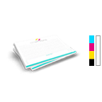 Notepad Printing 8.5'' x 5.5'', Landscape,  25 Pages per Pad, 4/0 Single Sided