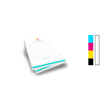 Notepad Printing 4.25'' x 5.5'',  25 Pages per Pad, 4/0 Single Sided