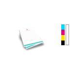 Notepad Printing 2.75'' x 4.25'',  25 Pages per Pad, 4/0 Single Sided