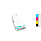 Notepad Printing 3.5'' x 8.5'',  25 Pages per Pad, 4/0 Single Sided